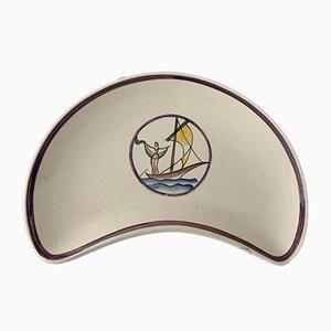 Centrotavola in ceramica di Gio Ponti per Richard Ginori, anni '30