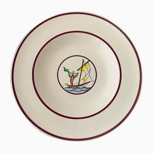 Plate by Gio Ponti for Richard Ginori, 1930s