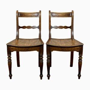 Antike englische Regency Esszimmerstühle, 2er Set