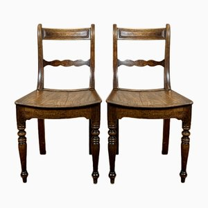 Antique Regency English Dining Chairs, Set of 2