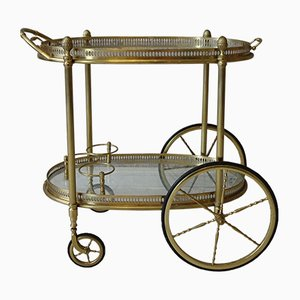 Vintage Gilded Brass Trolley from Maison Jansen