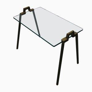 Tavolino T21 in ottone di Peter Ghyczy, 1982