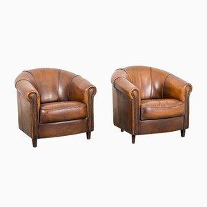 Vintage Leather Armchairs by Joris Product-Design, Set of 2