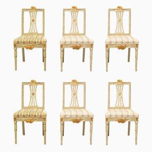 Chaises de Salle à Manger Gustaviennes Antiques, Set de 6