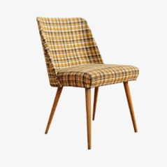 Checkered Mid Century Easy Chair