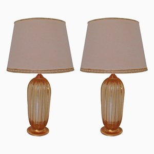 Table Lamps by Barovier & Toso, 1960s, Set of 2