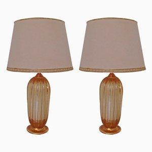 Tischlampen von Barovier & Toso, 1960er, 2er Set