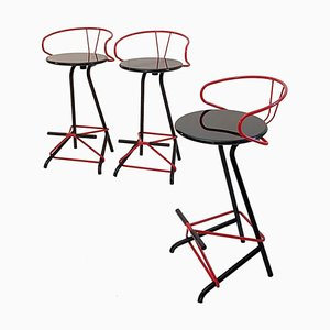 Italian Swivel Bar Stools from La Palma, 1980s, Set of 3