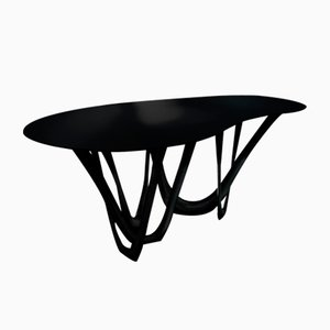 Coated Steel B and C Sculptural G-Table by Zieta