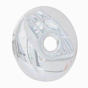 Espejo de pared Rondo 120 de acero inoxidable pulido de Zieta