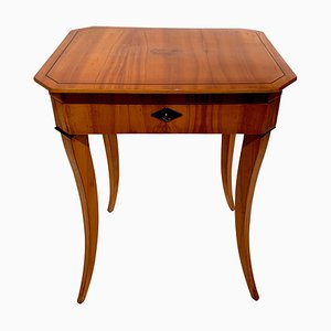 Antique Biedermeier Cherry Sewing Table, 1825