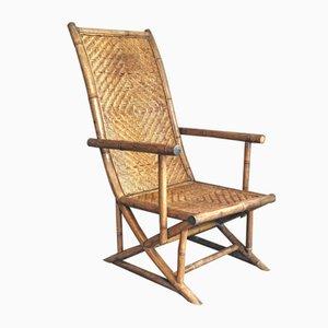 Silla de bambú y ratán, años 60