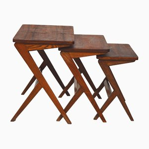 Danish Rosewood Nesting Tables, 1960s