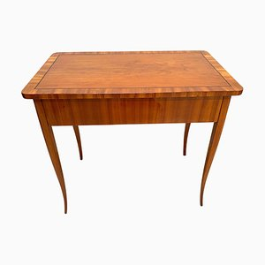 Antique Biedermeier Cherry Desk, 1830s