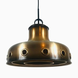 Space Age Copper Pendant Lamp by Doria Leuchten, 1970s