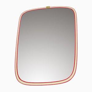 Espejo de pared alemán en rojo de Arax Zierspiegel, años 60