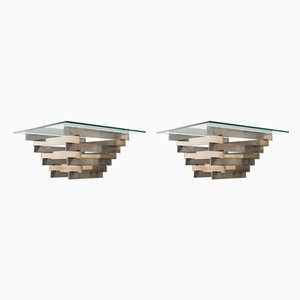 Steel Coffee Tables from Zaruch, 1970s, Set of 2