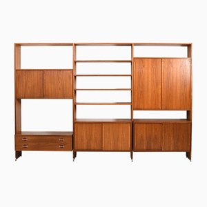 Teak Ry100 Wall System by Hans J. Wegner for Ry Møbler, 1960s