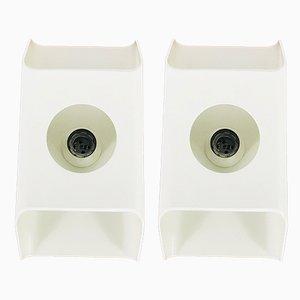 White Sconces by Klaus Hempel for Kaiser Idell / Kaiser Leuchten, 1970s, Set of 2