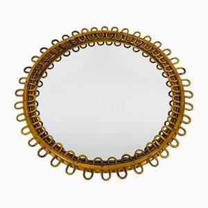 Mid-Century Italian Bamboo Mirror, 1960s