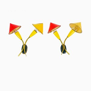 Mid-Century Italian Sputnik Sconces, 1960s, Set of 2
