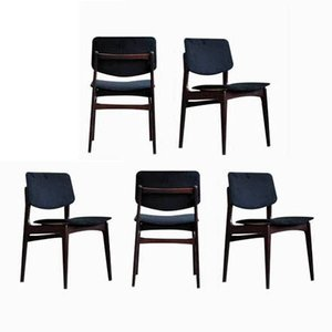 Rosewood Dining Chairs, 1970s, Set of 5