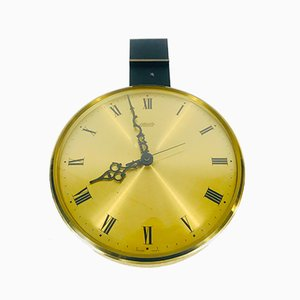 Mid-Century German Brass and Acrylic Wall Clock from Atlanta Electric, 1960s