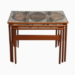 Tavolini ad incastro vintage in teak di Ox Art per Trioh, 1976, Danimarca
