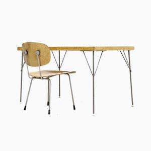 Table de Salle à Manger 531 et Chaises 116 par Wim Rietveld pour Gispen, 1954