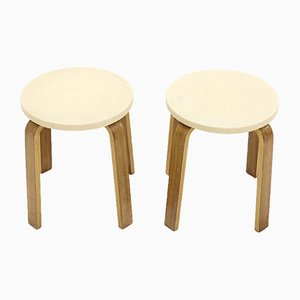 Plywood Stools by Cor Alons for Gouda den Boer, 1950s, Set of 2