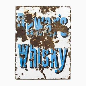 Enamel Dewar's Whiskey Sign, 1930s