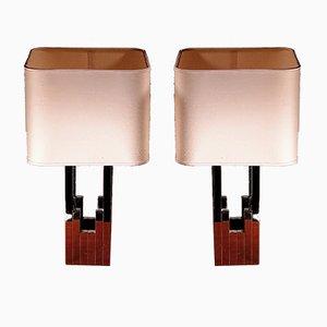 Lámparas de mesa vintage de Willy Rizzo para Lumica. Juego de 2