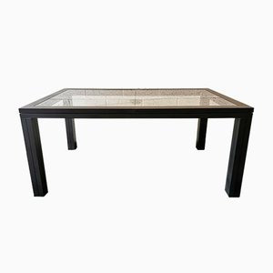 Glass Dining Table by Roche Bobois, 1990s