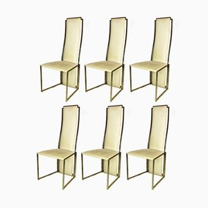 Dining Chairs by Willy Rizzo for Maison Jansen, 1970s, Set of 6