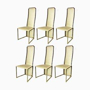Esszimmerstühle von Willy Rizzo für Maison Jansen, 1970er, 6er Set