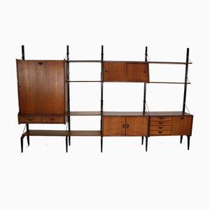 Modular Wall Unit by Louis van Teeffelen for WéBé, 1950s
