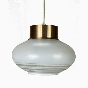 Mid-Century Space Age Metal and Glass Ceiling Lamp