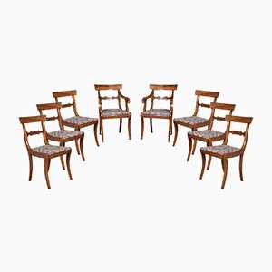 Antique Regency Mahogany Dining Chairs, Set of 8