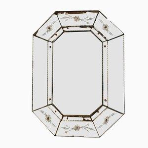 Achteckiger italienischer Spiegel, 1920er