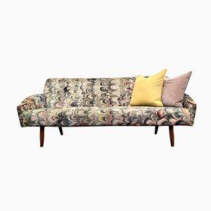 Mid-Century Danish Velvet Sofa