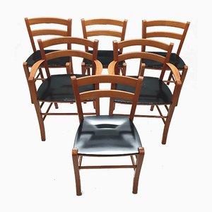 Esszimmerstühle von Vico Magistretti für e DePadova, 1990er, 6er Set