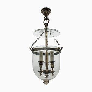 Lámpara de techo antigua de vidrio
