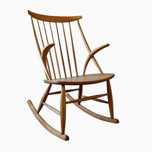 Rocking Chair Mid-Century par Illum Wikkelsø pour Niels Eilersen, Danemark