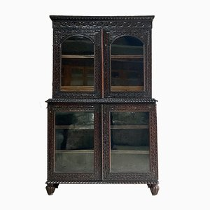 Antique Victorian Bookcase, 1890s