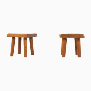 Model S01 Stools by Pierre Chapo, 1970s, Set of 2