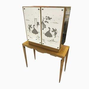 Mueble italiano con espejo, años 50
