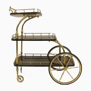 Chariot en Peau de Chèvre Laquée par Aldo Tura, 1950s