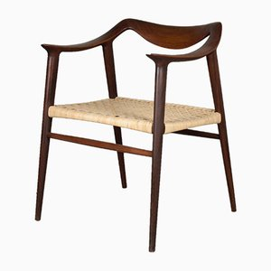 Teak and Rattan Armchair by Rolf Rastad & Adolf Relling for Gustav Bahus, 1950s