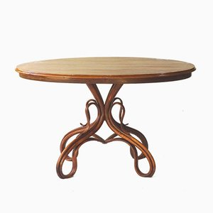 Antique Model 3 Walnut Salon Table for Thonet