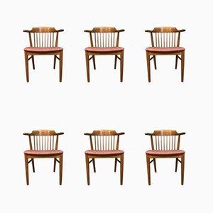 Skandinavische Mid-Century Esszimmerstühle, 6er Set